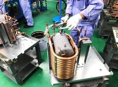 ロウ付けによる配管溶接